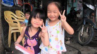ベトナムの少女、リンちゃん