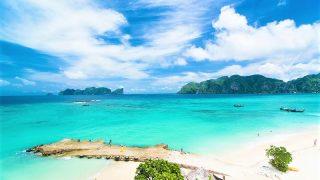 映画「ザ・ビーチ」の海!プーケットからピピ島ツアーを安く楽しむタイ観光旅行~ピピ島 オプショナルツアー ピピ島へ行き方&ホテル&ダイビング&ピピ島画像 タイの美人奥さまと不倫・恋愛旅行、プラトニックラブも